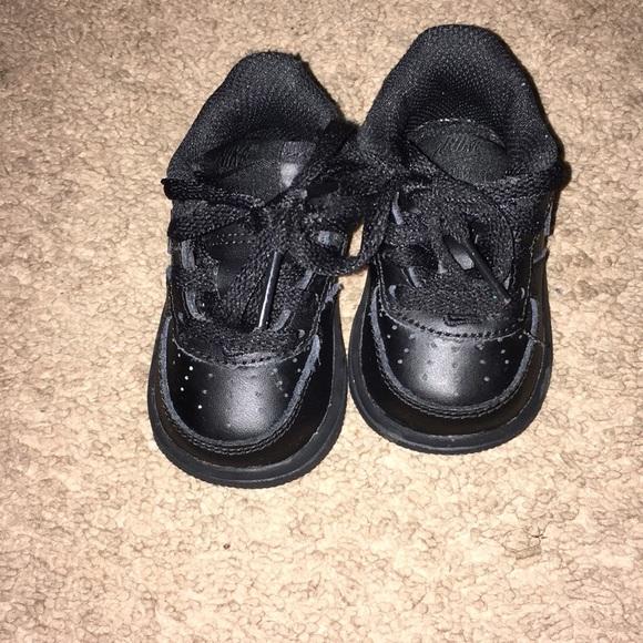 black low top air force ones